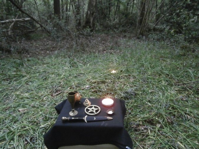Ritual in the woods